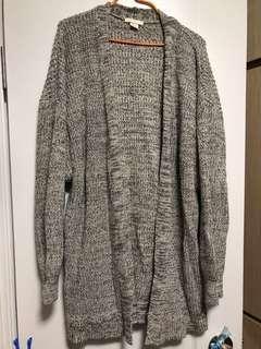 H&M 鬆身 長款 厚冷外套 M size