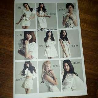 SNSD (girls generation) lined notebook