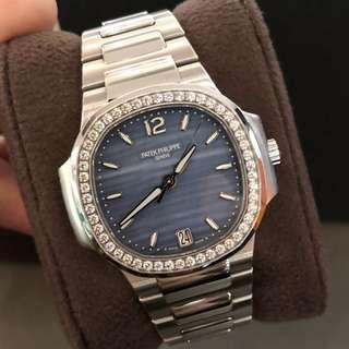 Patek Nautilus 7018 1A Blue mother of pearl dial 33mm