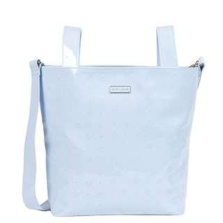 Branded Baby Bag Pasito a Pasito Patent Leather Logo Small Changing Bag (Blue)