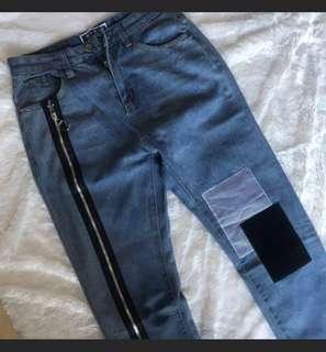 Boyfriend jeans patch