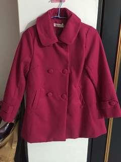🚚 莓紫色大衣
