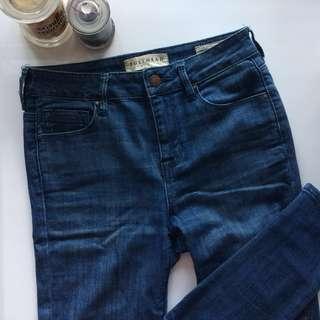 Blue Denim Highwaisted Skinny Jeans