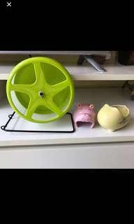 Hamster ceramic bath bowl and hippo shelter
