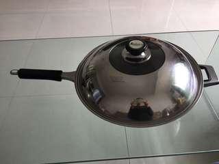 Stainless steel wok不銹鋼單柄鑊