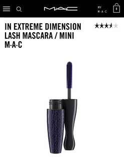 MAC mini in extreme dimension lash mascara volume