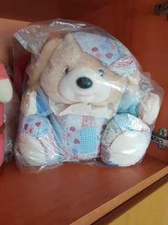 Wrapped big blue bear