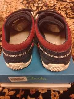 Clarks Balmy Drum Navy Infants Shoes