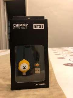 OFFICIAL BT21 CHIMMY TYPE-C CABLE