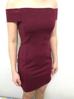 (M size) Kitschen Off Shoulder Dress