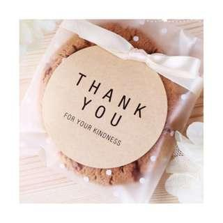 [INSTOCK] Cricle Thank you for your kindness Stickers