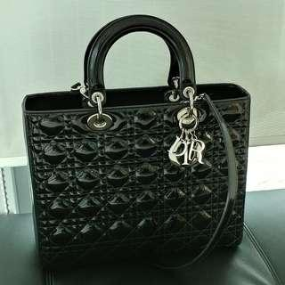 Authentic Lady Dior Large Bag