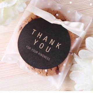 [INSTOCK] Black Circle Thank you for your kindness Stickers