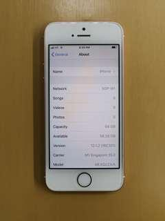 Only $245 IPhone 5 SE 64gb Rosegold Preown