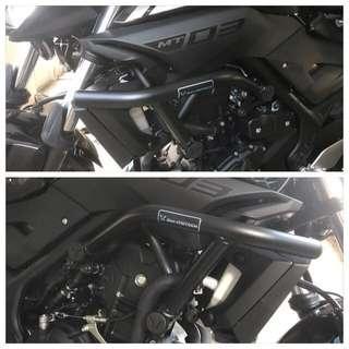 Yamaha MT03, Sw motech crash bar