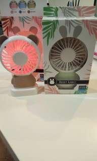 🚚 (Rabbit design) Moody LED Mini Handheld Portable Fan