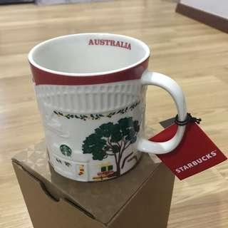 Australia Starbucks Christmas Red Relief Mug