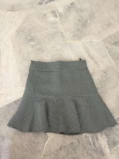 Grid Trumpet Skirt #JAN55