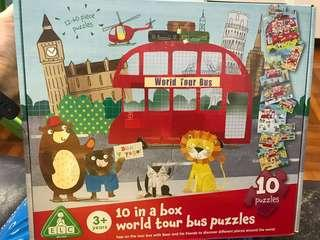 ELC - 10 in a box world tour bus puzzles