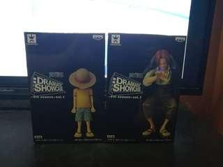 Banpresto Dramatic Showcase Luffy & Shank One Piece