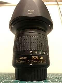 Nikon AF-P DX NIKKOR 10-20mm F4.5-5.6 VR