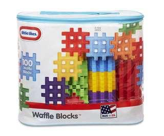 BRAND NEW BRAND NEW 100 Piece Little Tikes Waffle Blocks Bag