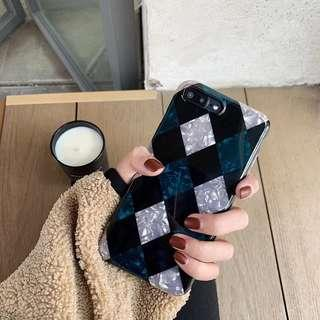 Geometric Checkered IPhone Case 6 6S 7 8 Plus X Xr Xs & Max