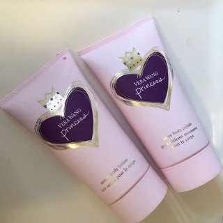 Vera Wang princess body lotion & body polish