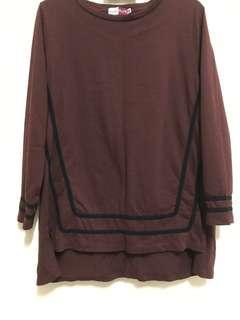 🔖Preloved Dark Brown Shirt Blouse