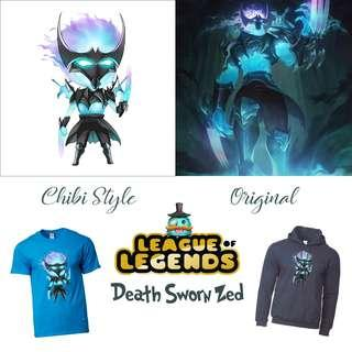 🚚 Death Sworn Zed Merch / League Of Legends Items, Shirts, Hoodie, Cups / Gifts for Him / Her / Friends
