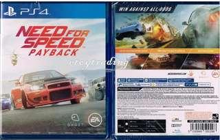 Ps4 games need for speed payback