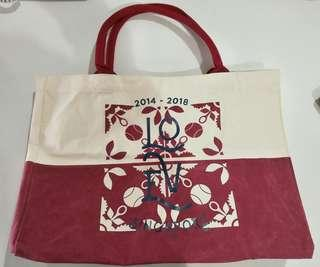 ⚡SALE🔛WTA Finals 2014-2018 LOVE Singapore Large Canvas Tote Bag w/ free pouch