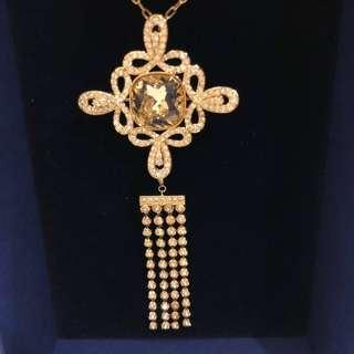 Swarovski necklace and brooch