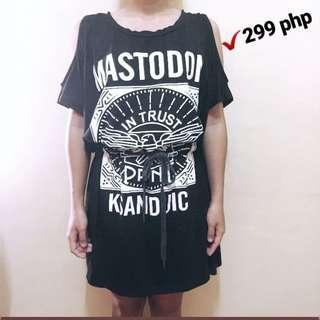 Cold shoulder black dress