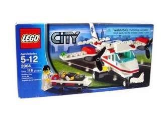 2064 Lego City Ambulance Rescue Plane BNIB