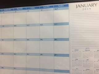 Table calendar 2019-$10 suitable for office&other usage Brand new on hand 2 pcs