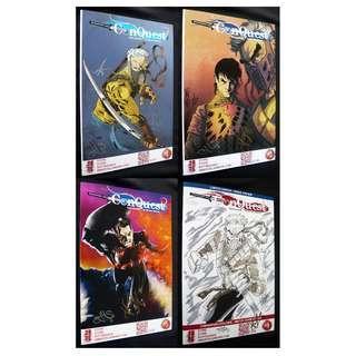 Conquest #1-4 (Immortal Samurai) Comics Lot (Signed)