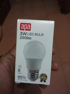 Lampu terang LED 3W setara 20W lampu biasa
