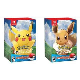 POKÉMON LET'S GO PIKACHU / EEVEE SET NINTENDO SWITCH (Lets Go Pikachu)