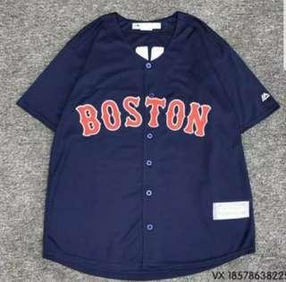 😀😀(S~8XL) Oversized plus size baseball jersey shirt