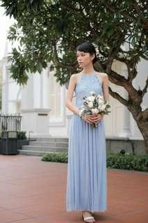 ThreadTheory Whirlwind Romance Maxi Dress in Powder Blue INSTOCK CNY