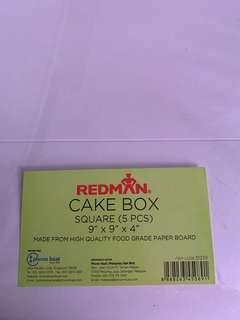 Redman Cake Box and Cake Board Square