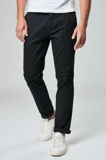 Next 男裝彈力褲,全新,黑色
