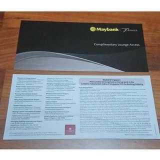 Maybank Premier Wealth World Mastercard: Plaza Premium Lounge Access x 2