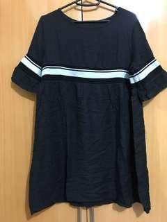 Korean look semi dress top