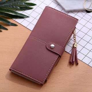 🚚 (Sales) Red Bean Paste Colour Long Wallet With Tassel