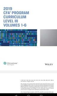 CFA level 3 Wiley Textbook Noted