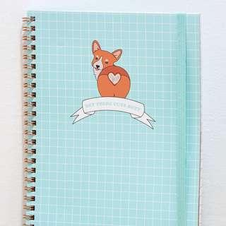 A5 Cute Corgi Butt Notebook (TYPO)