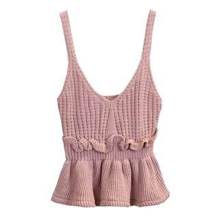 Knitted Cami Top (PURPLE PINK)