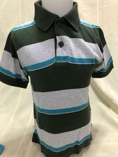 Size 4:  Children's Place  GReen Blue stripes